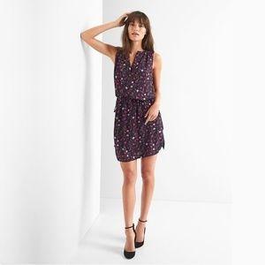Gap Sleeveless Tie-Waist Floral Shirtdress L #3685